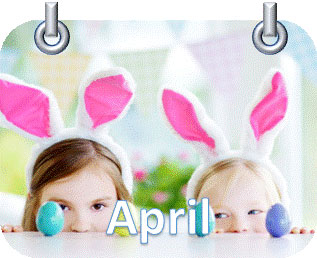 Kids bunny rabbit ears easter eggs table