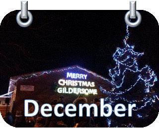 night sky building MERRY CHRISTMAS GILDERSOME christmas tree lights
