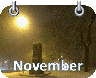 mist road street light momentum snow November