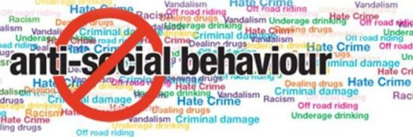 Word Art for Anti-social behaviour racism hate crime criminal damage vandalism dealing drugs underage drinking