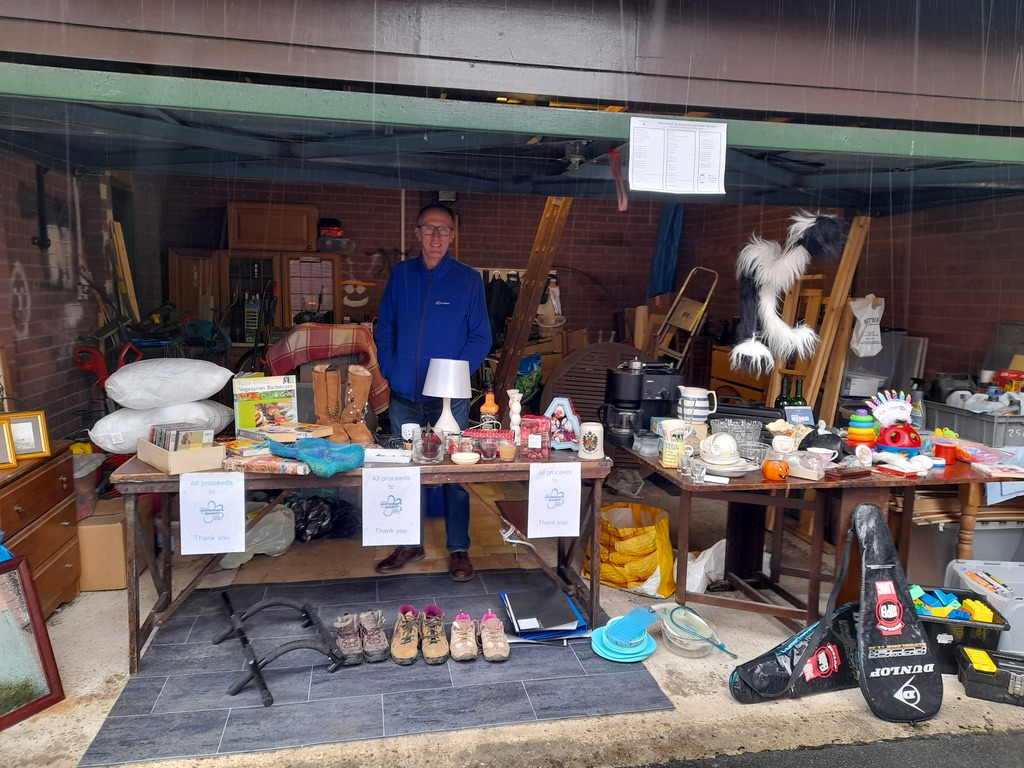 Stall holder items being sold at table top sale