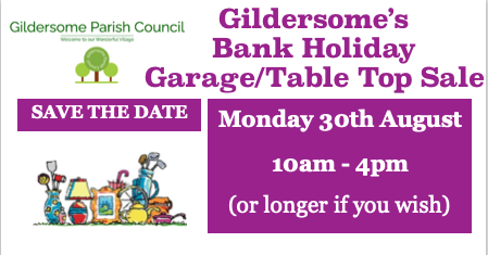 Bank Holiday Table Top Sale Monday 30th August 10am- 4pm